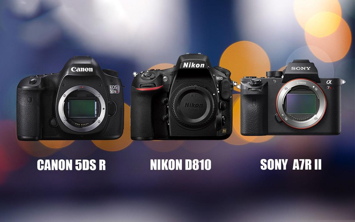 Canon 5DSR với Nikon 810 và Sony A7II