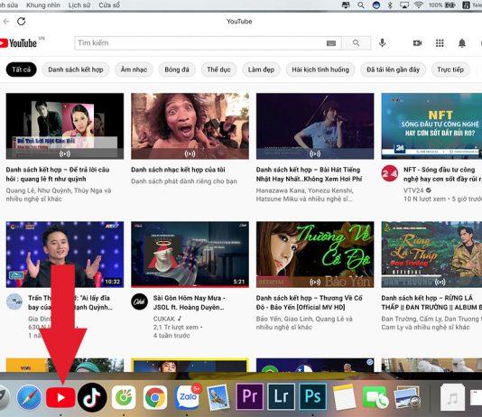Ứng dụng youtube cho mac os