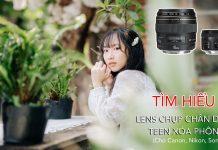 Lens chân dung Canon Nikon Sony